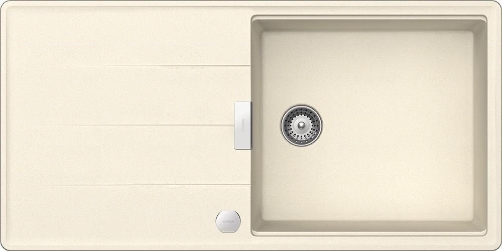 Chiuveta Granit Schock Tia D-100L Magnolia Cristadur 1000 x 500 mm cu Sifon Automat
