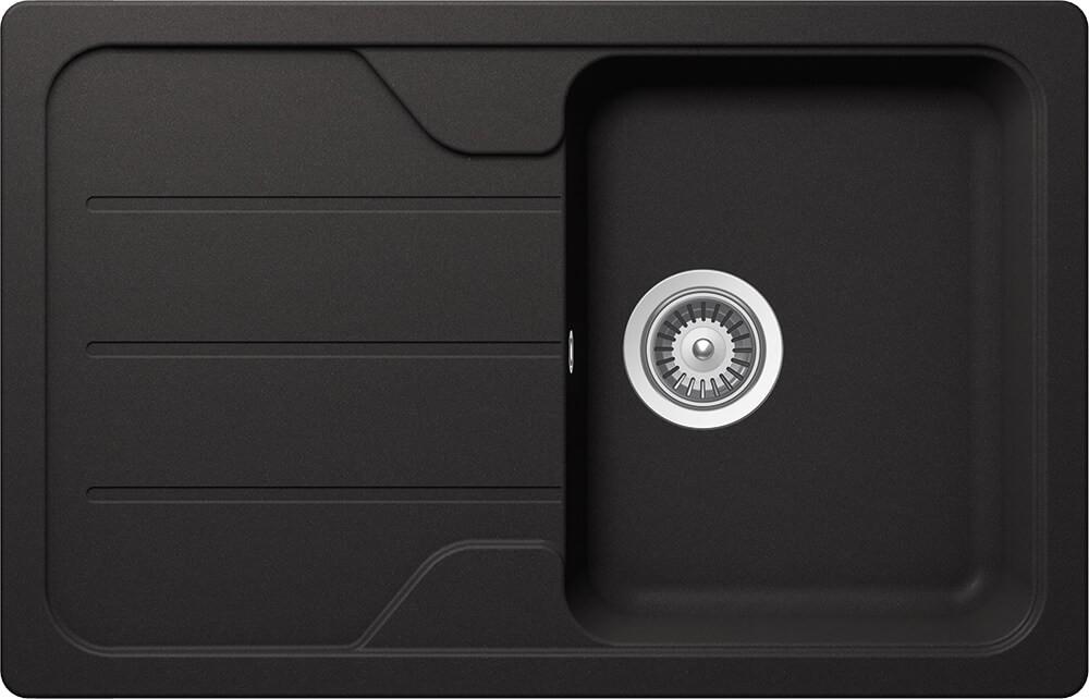 Chiuveta Granit Schock Formhaus D-100S Nero Cristalite 780 x 500 mm