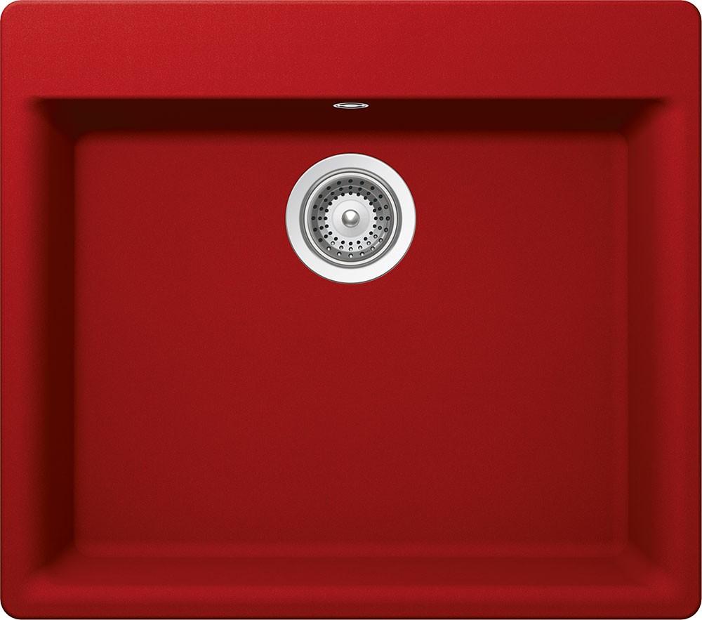 Chiuveta Granit Schock Galaxy N-100 Rosu Cristadur 600 x 530 mm