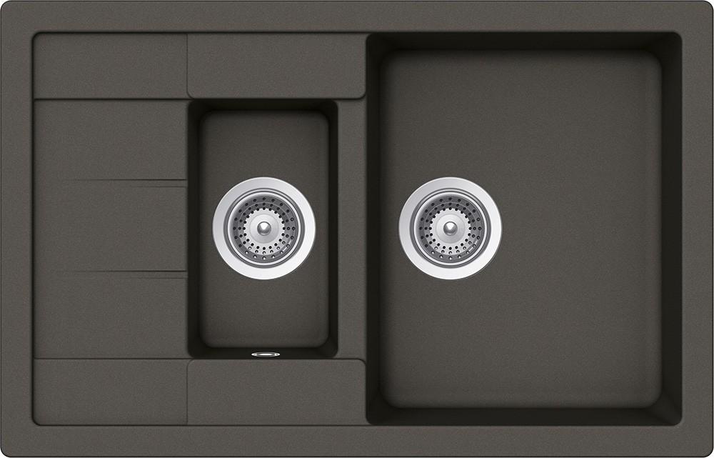 Chiuveta Granit Schock Manhattan D-150S Asphalt Cristalite 780 x 500 mm