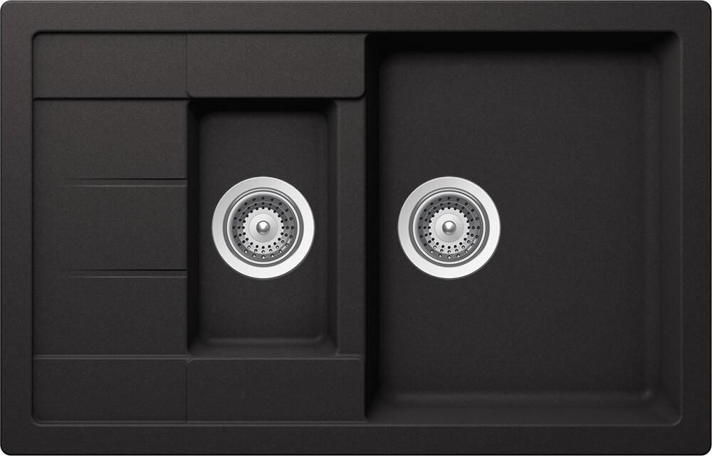 Chiuveta Granit Schock Manhattan D-150S Nero Cristalite 780 x 500 mm