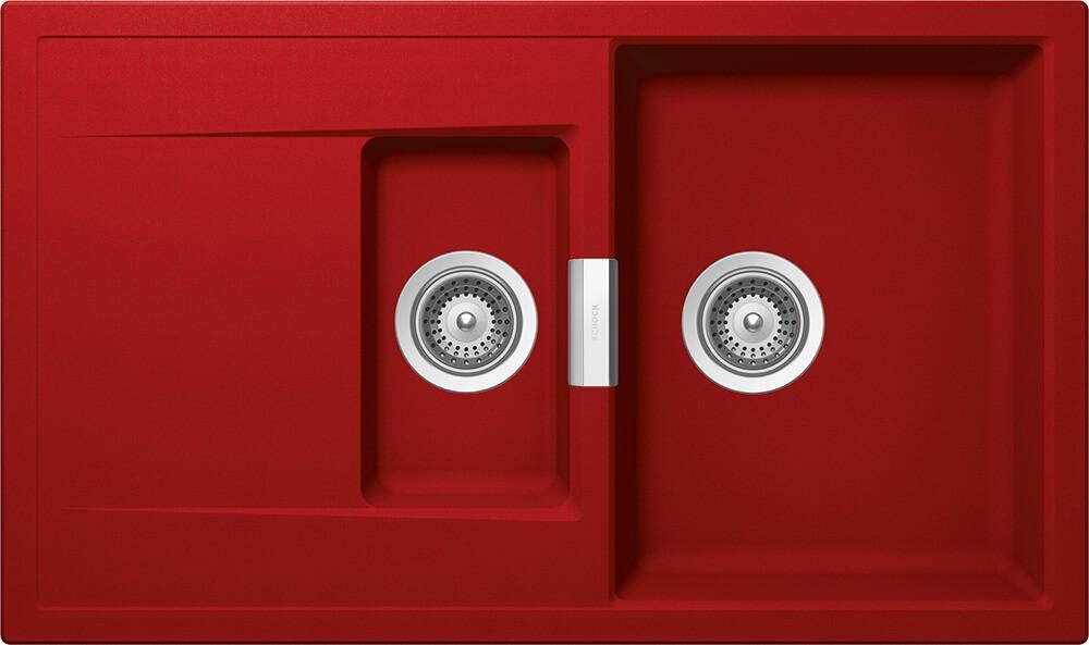 Chiuveta Granit Schock Mono D-150 Rosu Cristadur 860 x 510 mm