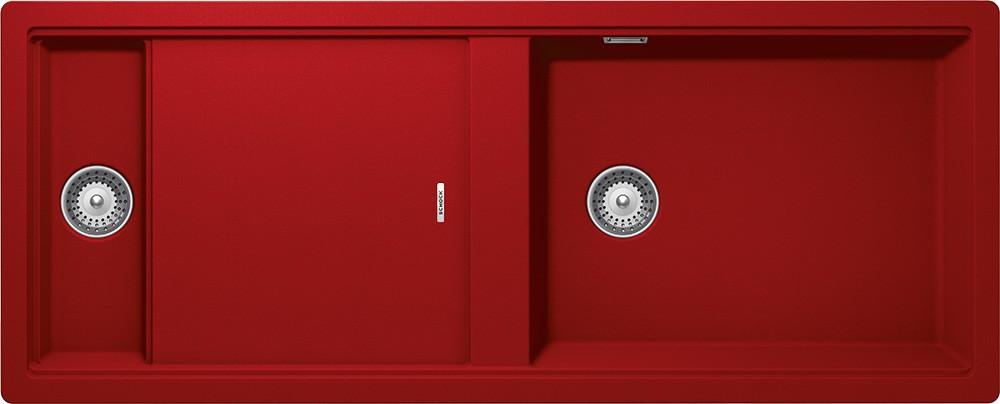 Chiuveta Granit Schock Prepstation D-150 Rosu Cristadur 1140 x 460 mm cu Sifon Automat