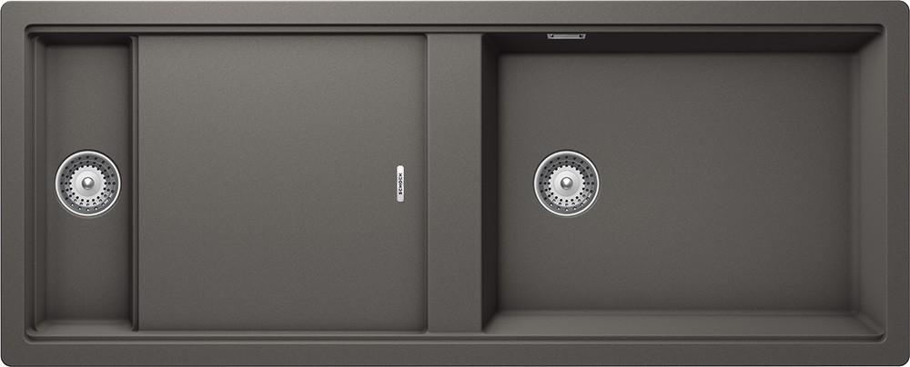 Chiuveta Granit Schock Prepstation D-150 Silverstone Cristadur 1140 x 460 mm cu Sifon Automat