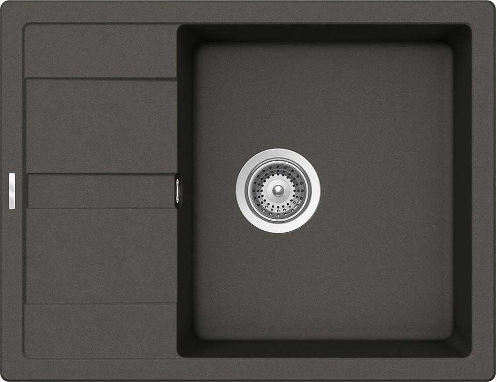 Chiuveta Granit Schock Ronda D-100L Asphalt Cristalite 650 x 500 mm