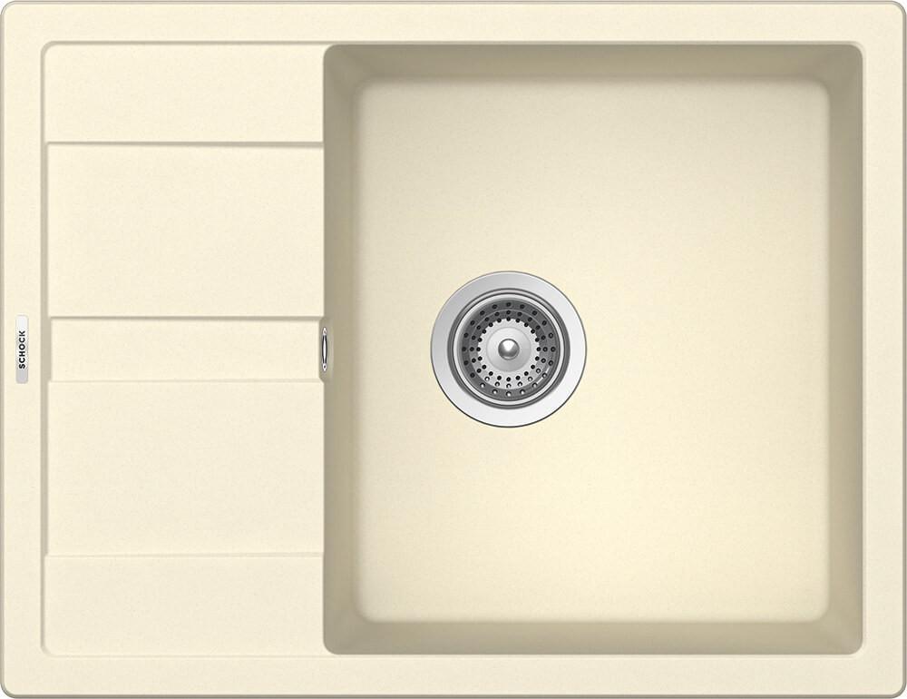 Chiuveta Granit Schock Ronda D-100L Crema Cristalite 650 x 500 mm
