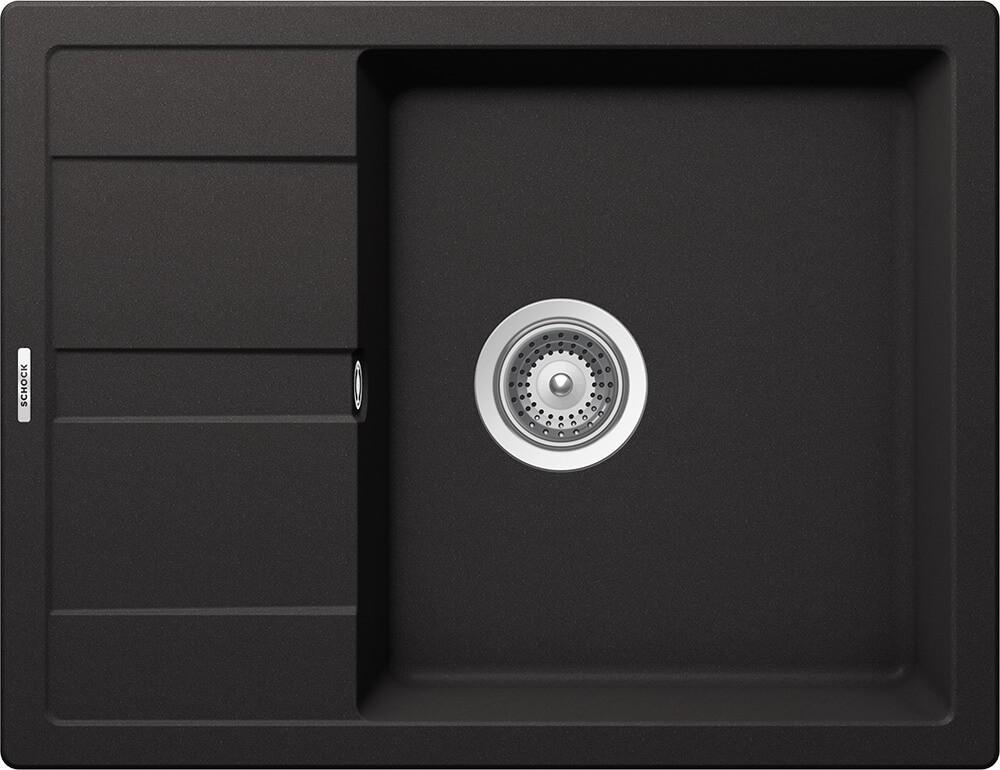 Chiuveta Granit Schock Ronda D-100L Nero Cristalite 650 x 500 mm