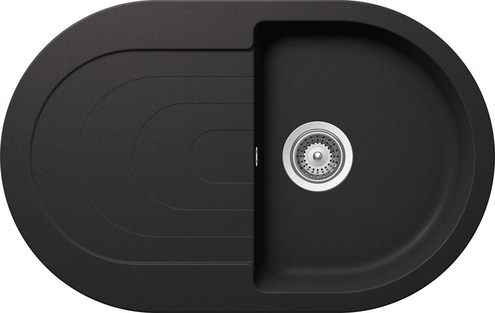 Chiuveta Granit Schock Ronda D-100S Nero Cristalite 790 x 500 mm