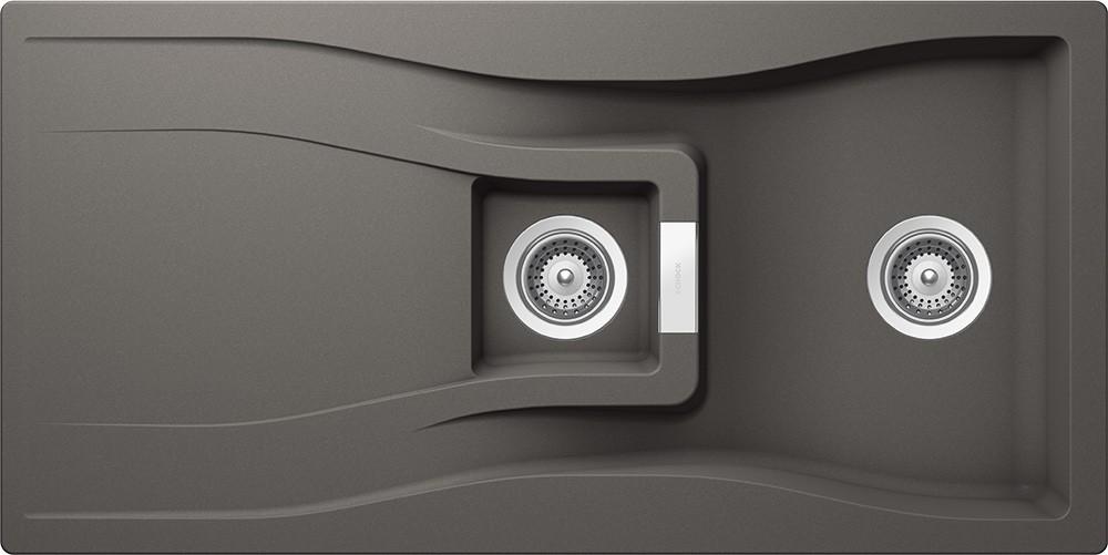 Chiuveta Granit Schock Waterfall D-150 Silverstone Cristadur 1000 x 500 mm
