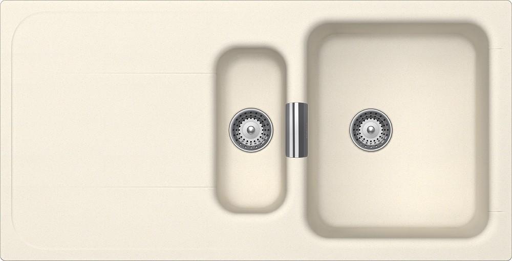 Chiuveta Granit Schock Wembley D-150 Magnolia Cristadur 1000 x 510 mm