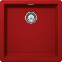 Chiuveta Granit Schock Greenwich N-100 Rosu Cristadur 456 x 456 mm
