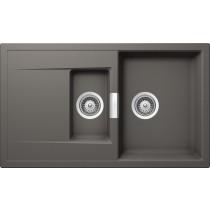 Chiuveta Granit Schock Mono D-150 Silverstone Cristadur 860 x 510 mm