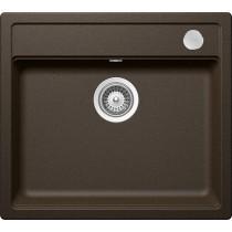 Chiuveta Granit Schock Mono N-100 Bronze Cristadur 570 x 510 mm cu Sifon Automat