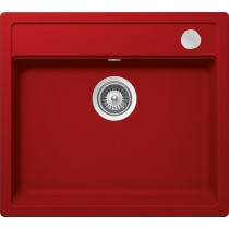 Chiuveta Granit Schock Mono N-100 Rosu Cristadur 570 x 510 mm cu Sifon Automat