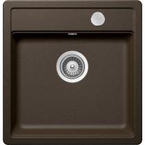 Chiuveta Granit Schock Mono N-100S Bronze Cristadur 490 x 510 mm cu Sifon Automat