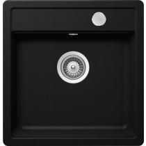 Chiuveta Granit Schock Mono N-100S Puro Cristadur 490 x 510 mm cu Sifon Automat