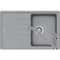Set Chiuveta Schock Element D-100S 780 x 500 mm si Baterie Schock Cosmo Croma Cristalite