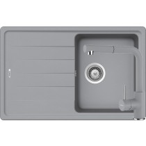 Set Chiuveta Schock Element D-100S 780 x 500 mm si Baterie Schock Napos cu Dus Extractibil Croma Cristalite