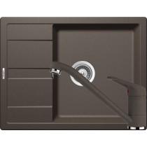 Set Chiuveta Schock Ronda D-100L 650 x 500 mm si Baterie Schock Cosmo Inca Cristalite