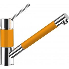 Baterie Granit Schock SC-50 cu Dus Extractibil Portocaliu