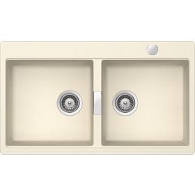 Chiuveta Granit Schock Horizont N-200 Magnolia 860 x 500 mm cu Sifon Automat