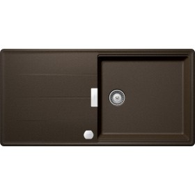 Chiuveta Granit Schock Tia D-100L Bronze Cristadur 1000 x 500 mm cu Sifon Automat