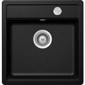 Chiuveta Granit Schock Mono N-100S Magma Cristadur 490 x 510 mm cu Sifon Automat