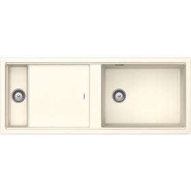 Chiuveta Granit Schock Prepstation D-150 Magnolia Cristadur 1140 x 460 mm cu Sifon Automat