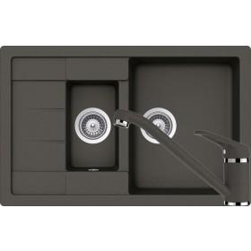 Set Chiuveta Schock Manhattan D-150S 780 x 500 mm si Baterie Schock Cosmo Asphalt Cristalite