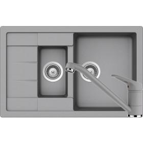 Set Chiuveta Schock Manhattan D-150S 780 x 500 mm si Baterie Schock Cosmo Croma Cristalite