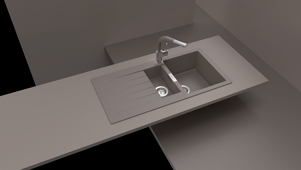 chiuveta granit schock signus d 150 puro cristadur 1000 x. Black Bedroom Furniture Sets. Home Design Ideas