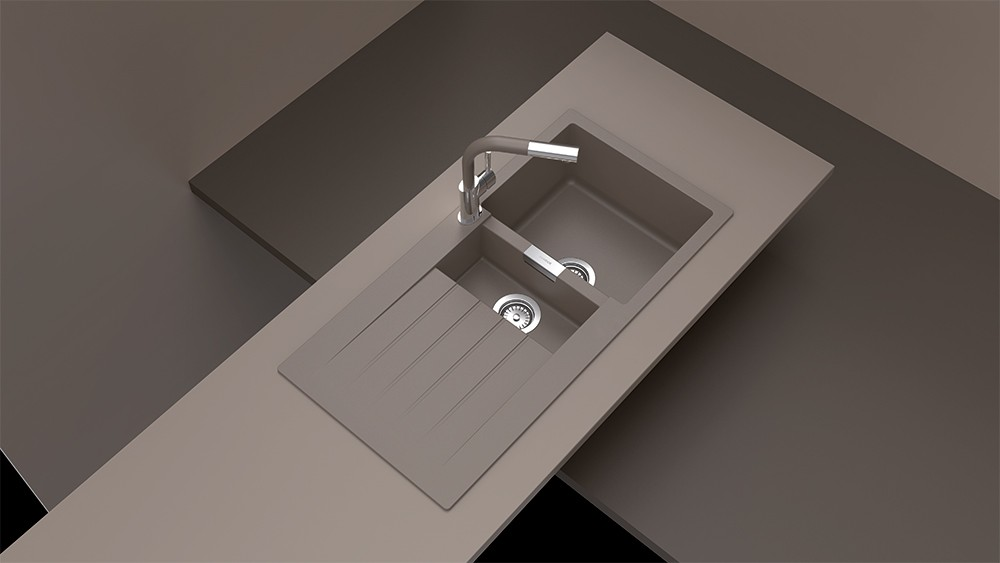 chiuveta granit schock signus d 150 earth 1000 x 500 mm. Black Bedroom Furniture Sets. Home Design Ideas