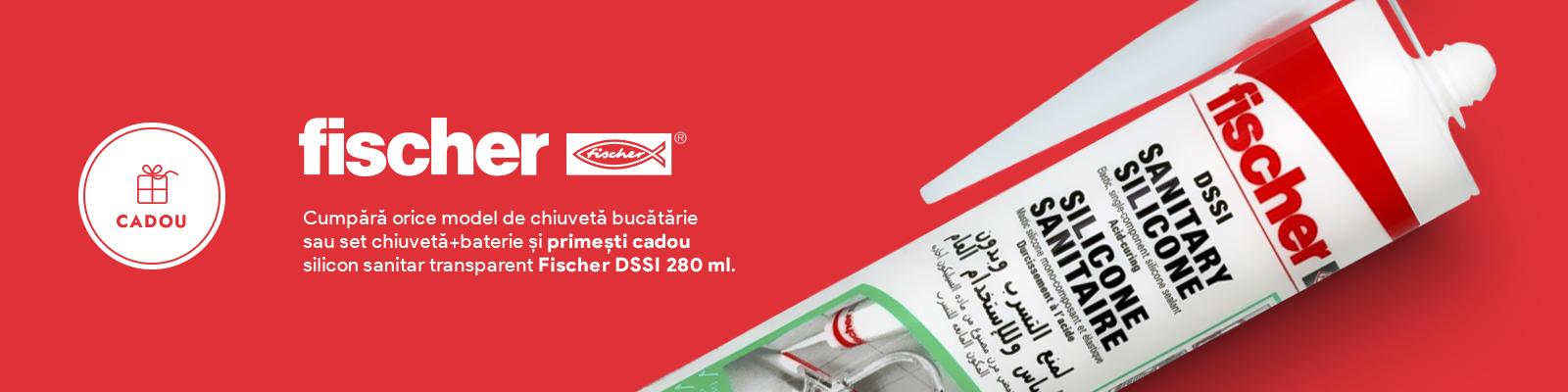 CADOU - Silicon sanitar Fischer DSSI 280 ml transparent