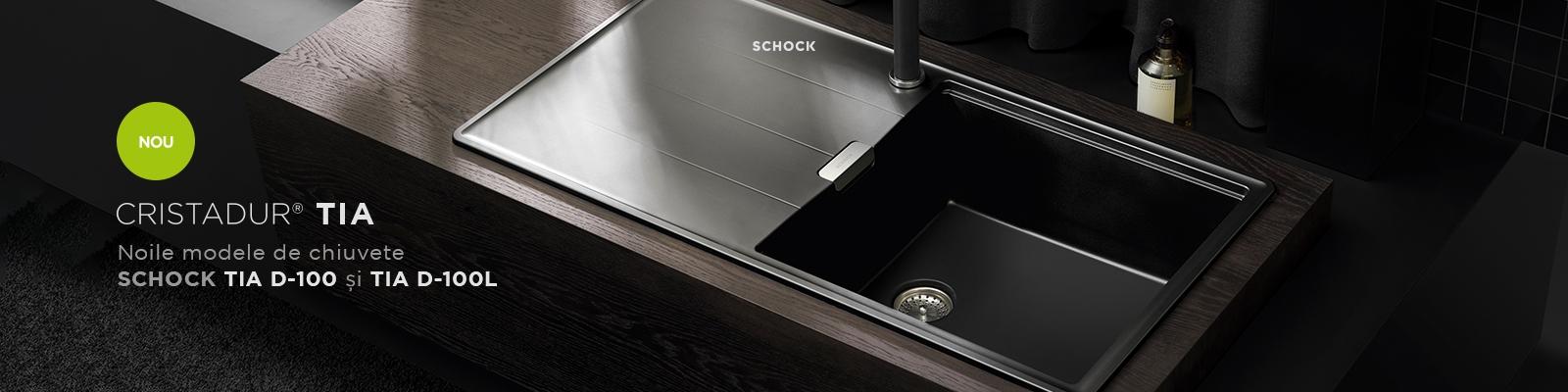 Chiuveta Granit Schock Tia D-100 si D-100L Cristadur